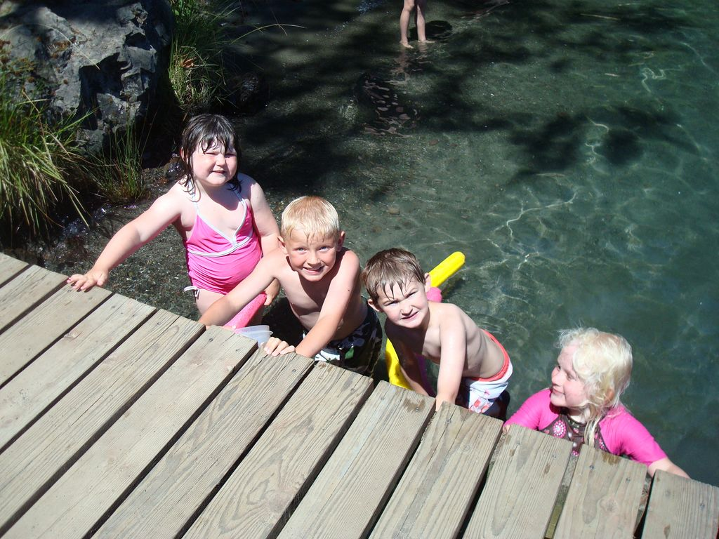Kids at the dock