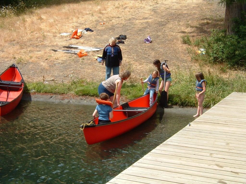 Canoeing at Camp Bo