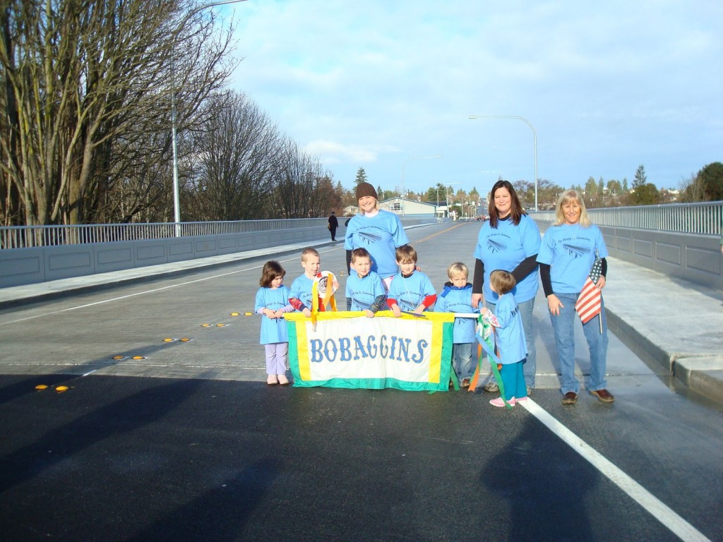 BoBaggins Preschool and Kindergarten Walk Our New Bridge
